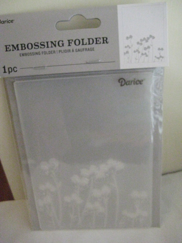 Darice Embossing Folder Poppy Flowers | Scrapbooking Cards Crafts