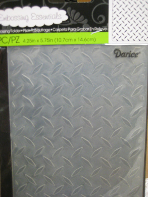 Darice Embossing Folder Diamond Plate Background | 4.25 x 5.75