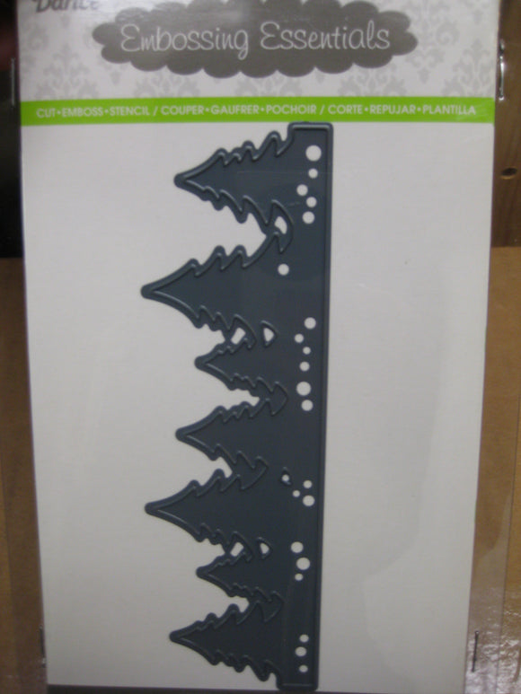 Darice Metal Die Cut Evergreen Tree Border | Emboss, Stencil, Cut Scrapbooking Crafts Cards