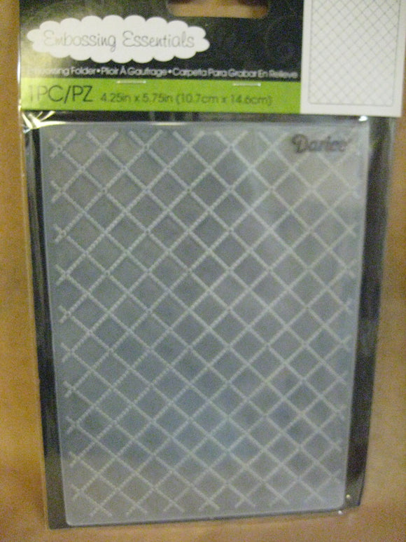 Darice Embossing Folder Wire Fence Background | 4.25 x 5.75