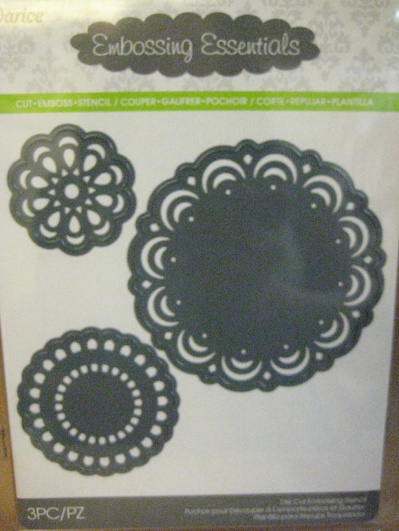 Darice Metal Die Cut & Emboss 3 Pc. Doily | Emboss, Stencil, Cut Scrapbooking Crafts Cards