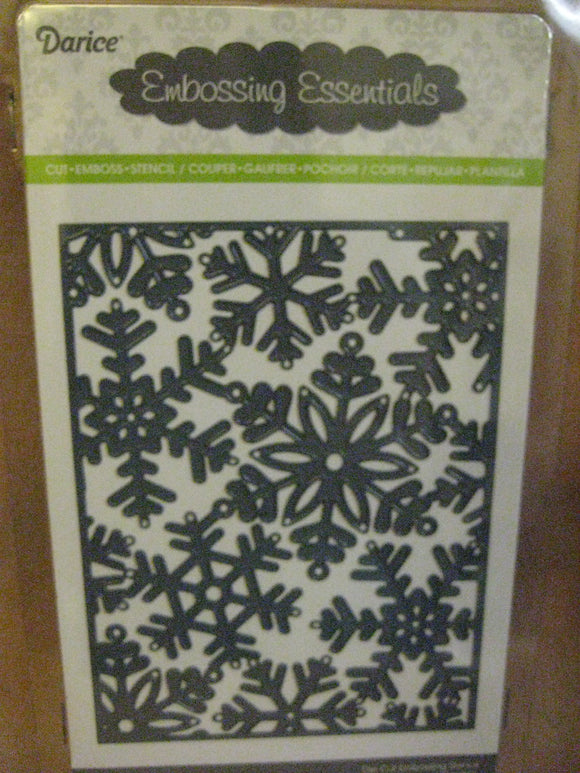 Darice Metal Die Cut Snowflake Background | Emboss, Stencil, Cut Scrapbooking Crafts Cards