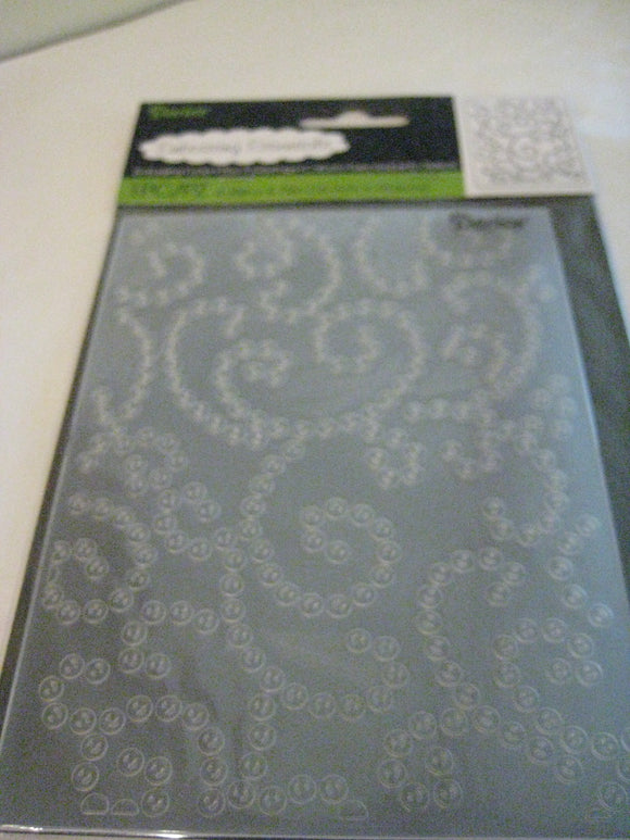 Darice Embossing Folder Gem Swirl Background | 4.25 x 5.75