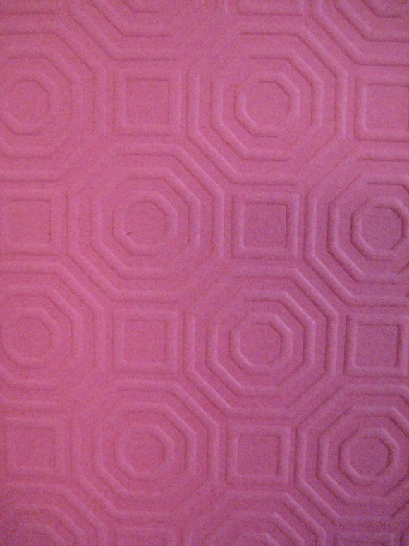 Darice Embossing Folder Octagon Background | 4.25 x 5.75