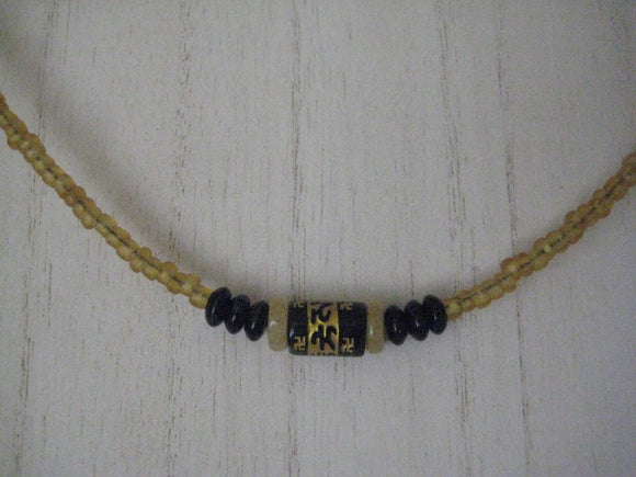 Handmade Artisan Mantra Bead Necklace 16