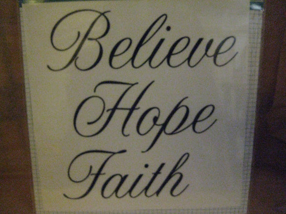 Darice Black Script Craft Decal - Believe, Hope, Faith