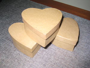 "Darice 3.5"" in. Paper Mache Heart Boxes Gifts, Favors, Crafts 