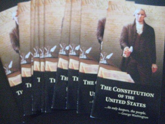 Pack of 10 Pocket Constitutions & Declaration of Independence United States Constitution