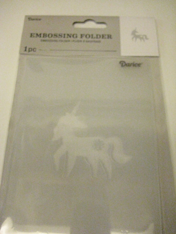 Darice Embossing Folder Unicorn | Scrapbooking Cards Crafts