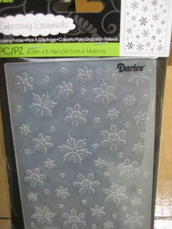 Darice Embossing Folder Snowflakes Background | 4.25 x 5.75