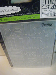 "Darice Embossing Folder ""Hello"" Bold Background 