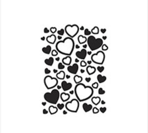 Darice Scattered Hearts Embossing Folder Paper Crafts