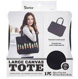 Darice Large Canvas Tote Black | Ready to Decorate