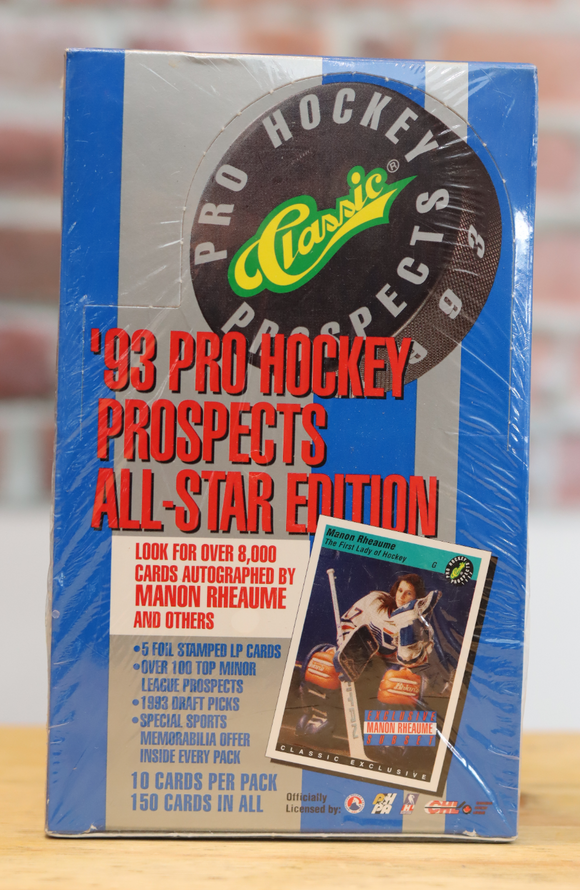 1993 Classic Pro Prospects Hockey Card Wax Box (36 Packs)