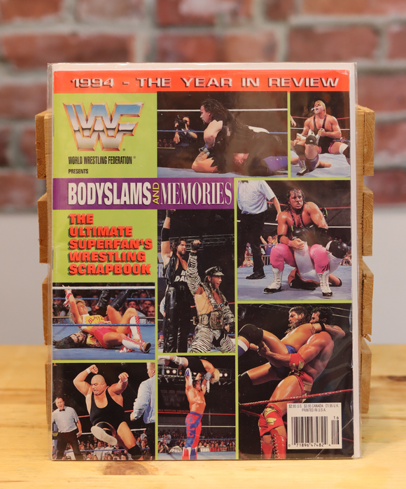 Original WWF WWE Vintage Wrestling Magazine - 1994 The Year In Review