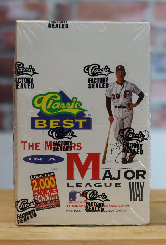 1992 Classic Best Minor League Baseball Card Wax Box (36 Packs)