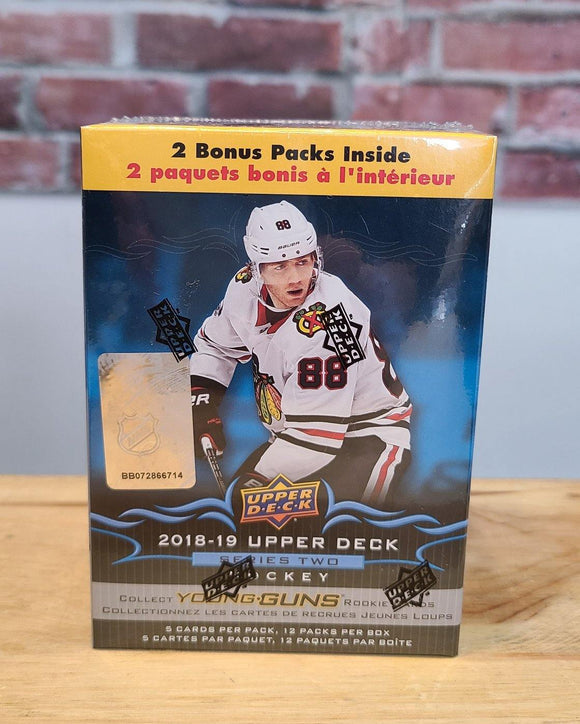 2018/19 Upper Deck Series Two Hockey Cards Blaster Box (12 Packs) - FLIP Collectibles Shop
