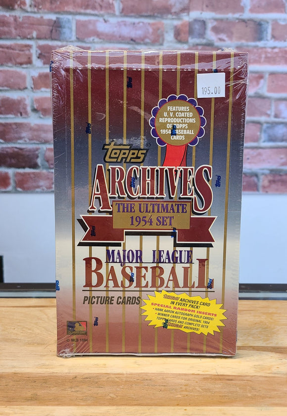 1954 Topps Archives Re-Release Baseball Card Wax Box (1994, 36 Packs)
