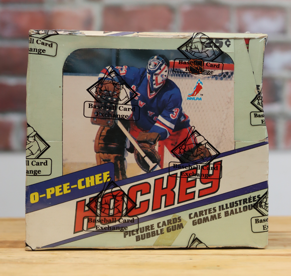 1981/82 OPC O-Pee-Chee Hockey Card Wax Box (48 Packs)