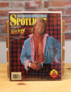 Original WWF WWE Vintage Wrestling Spotlight Program Roddy Piper (1991)
