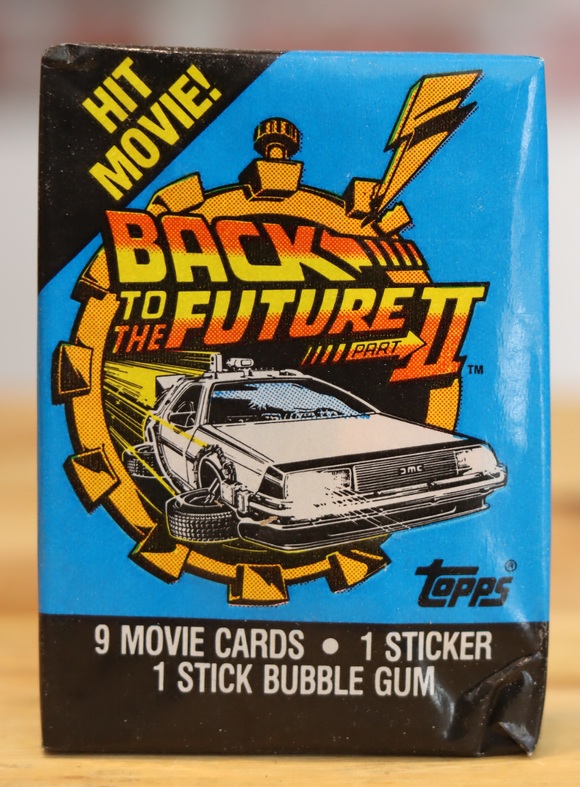 1986 Topps Back To The Future II Movie Trading Photo Cards Wax Pack