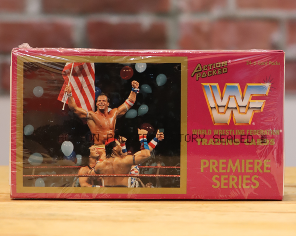 1994 Action Packed WWF WWE Wrestling Card Wax Box (24 Packs)