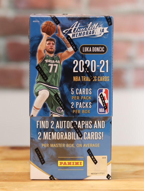 2020/21 Panini Absolute Basketball Card Master Box (2 Autographs)