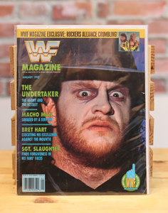 Original WWF WWE Vintage Wrestling Magazine The Undertaker (January 1992)