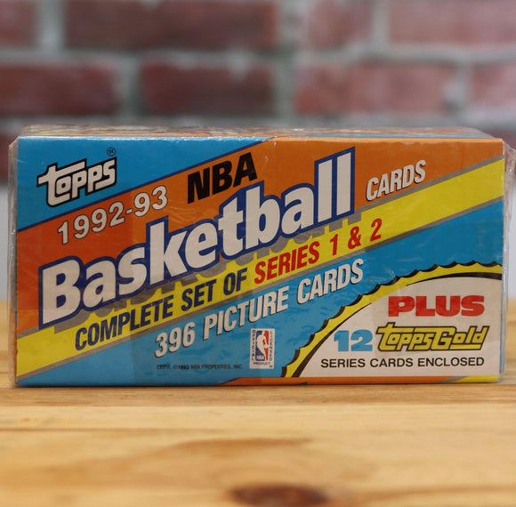 1992/93 Topps Basketball Complete Factory Set (396 Cards)