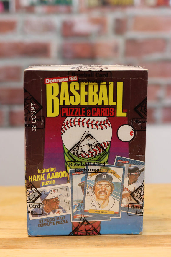 1986 Donruss Baseball Card Wax Box (36 Packs) BBCE Authenticated - FLIP Collectibles Shop