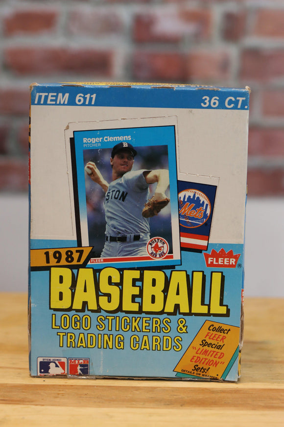 1987 Fleer Baseball Card Wax Box (36 Packs)