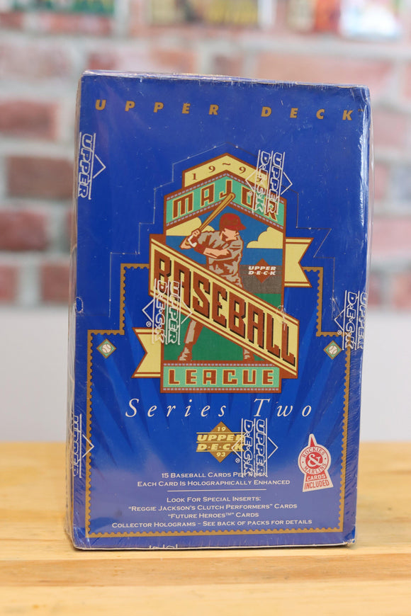 1993 Upper Deck Baseball Card Series 2 Wax Box (36 Packs) Factory Sealed - FLIP Collectibles Shop