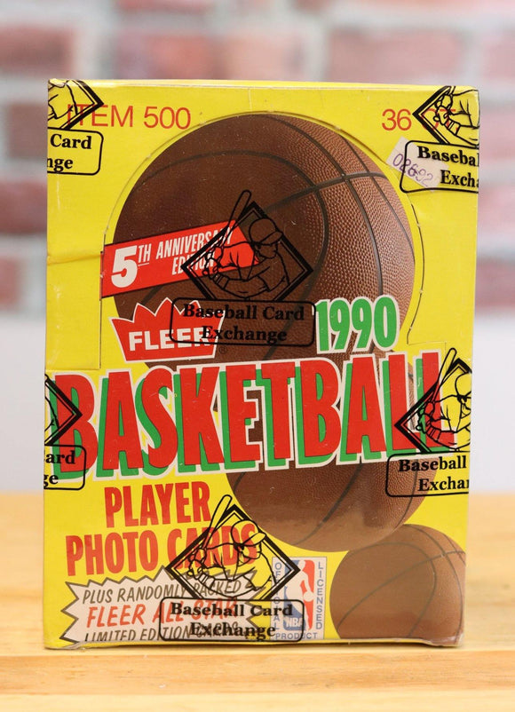 1990/91 Fleer Basketball Card Wax Box (36 Packs) - FLIP Collectibles Shop