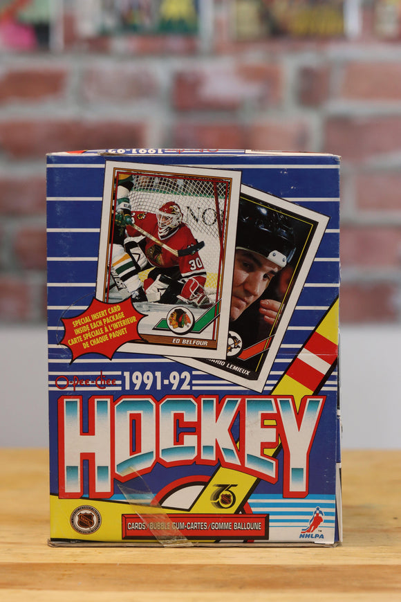 1991/92 O-Pee-Chee Hockey Card Wax Box (48 Packs) - FLIP Collectibles Shop