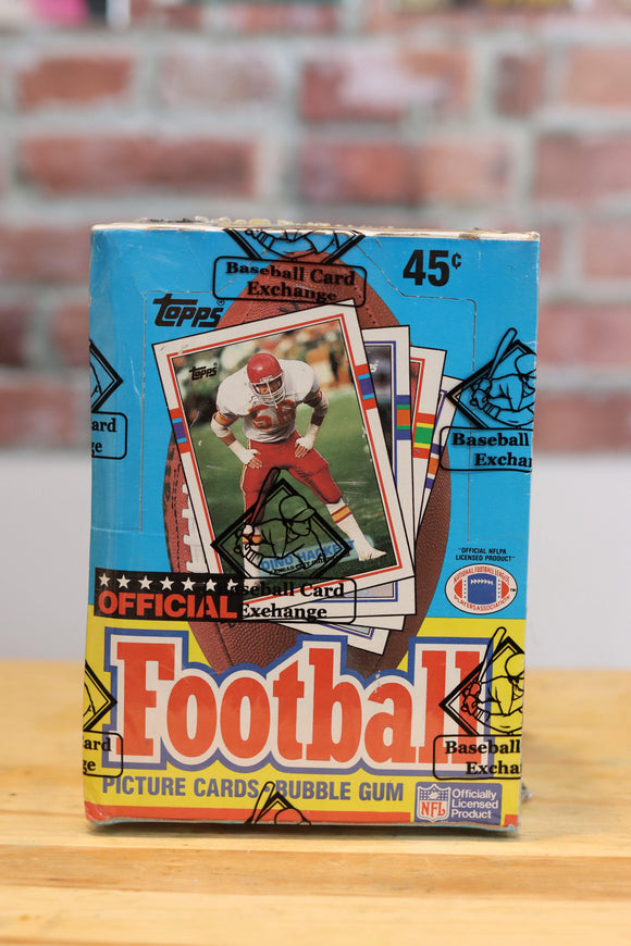 1989 Topps Football Card Wax Box (36 Packs) BBCE Authenticated - FLIP Collectibles Shop