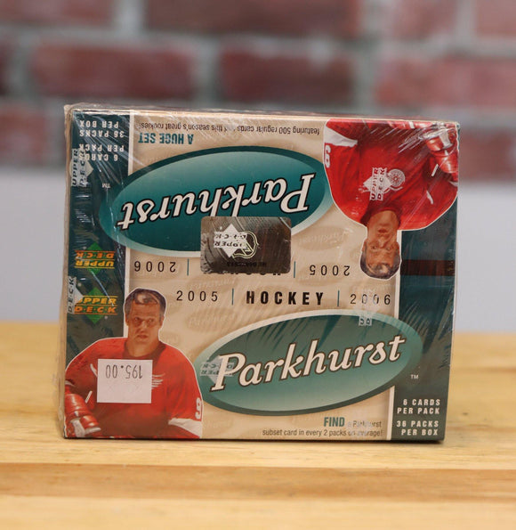 2005/06 Parkurst Hockey Card Wax Box (36 Packs) Factory Sealed - FLIP Collectibles Shop