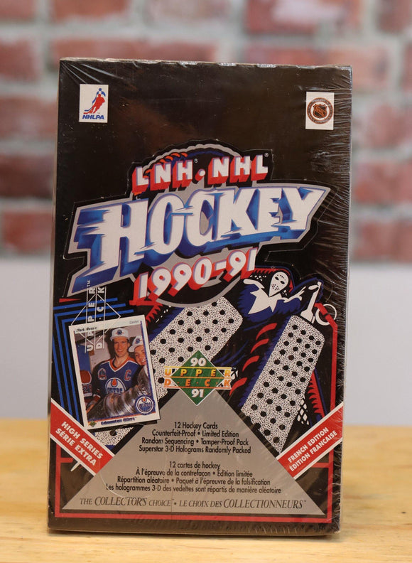 1990/90 Upper Deck Hockey Card Wax Box High Series (36 Packs) - FLIP Collectibles Shop