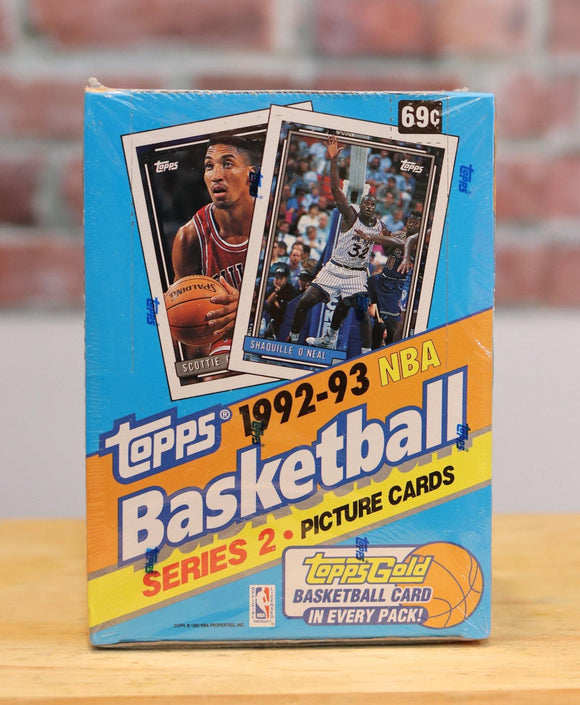 1992/93 Topps Basketball Card Series 2 Wax Box (36 Packs) Factory Sealed - FLIP Collectibles Shop