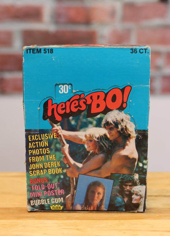 1981 Here's Bo Derek Movie Trading Cards Wax Box (36 Packs) - FLIP Collectibles Shop