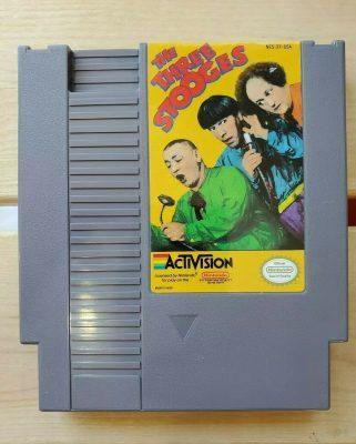 Three Stooges Nintendo NES Video Game Cartridge Working Clean Tested - FLIP Collectibles Shop