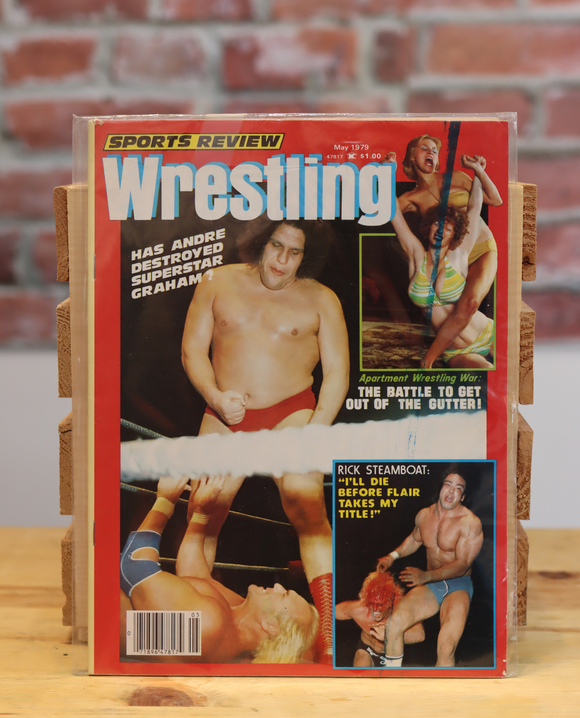 Original Sports Review Wrestling Magazine Andre The Giant (May 1979)