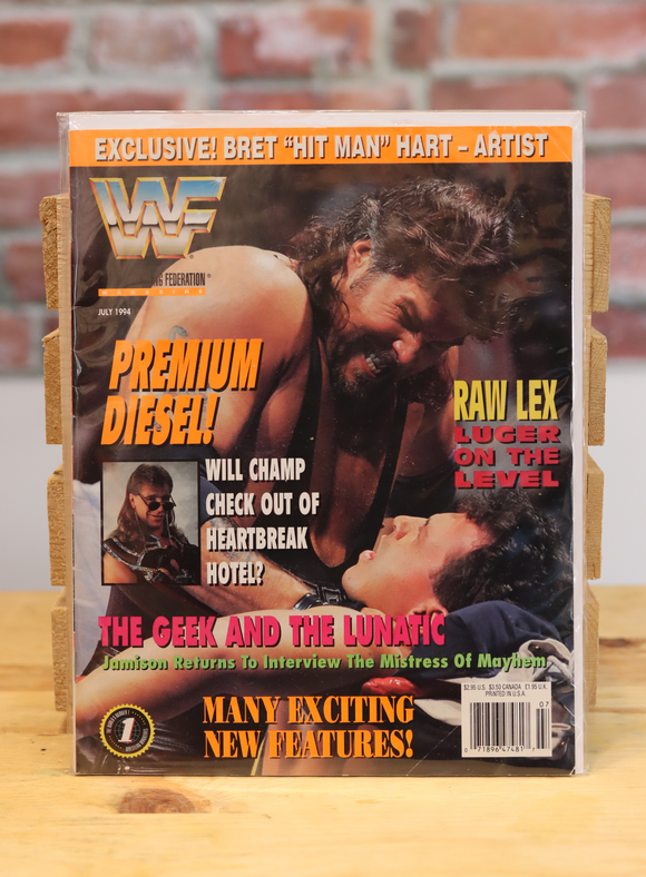 Original WWF WWE Vintage Wrestling Magazine Diesel (July 1994)