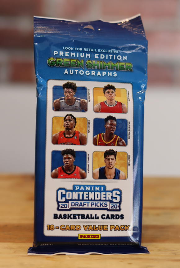 2020/21 Panini Contenders Draft Basketball Card Cello Fat Pack (18 Cards)