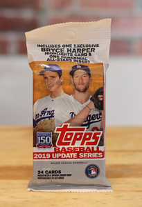 2019 Topps Update Baseball Card Cello Fat Pack (34 Cards)