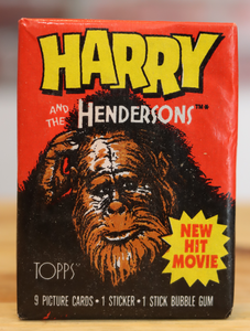 1987 Topps Harry And The Hendersons Movie Trading Photo Cards Wax Pack