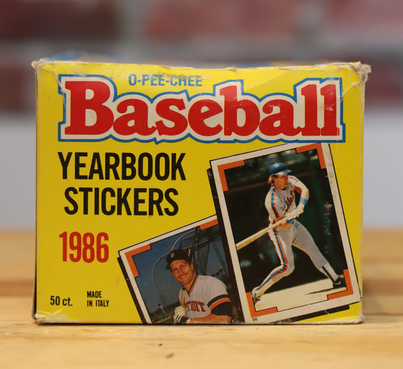 1986 OPC O-Pee-Chee Baseball Sticker Card Wax Box (50 Packs)
