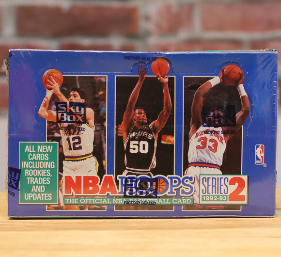 1992/93 Hoops Series 2 Basketball Card Hobby Box (36 Packs)