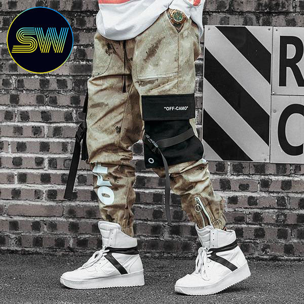 Cargo Off Graphic Camo Pants
