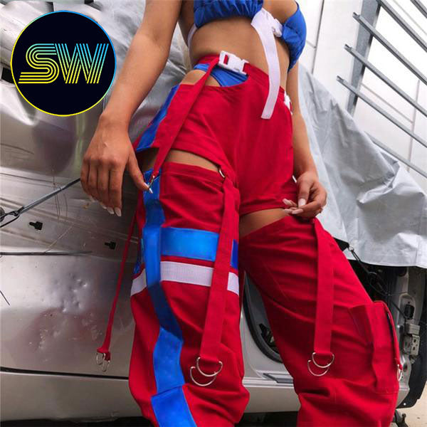 Split High Waist Pants