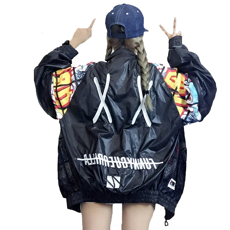 Oversized Windbreaker Jacket